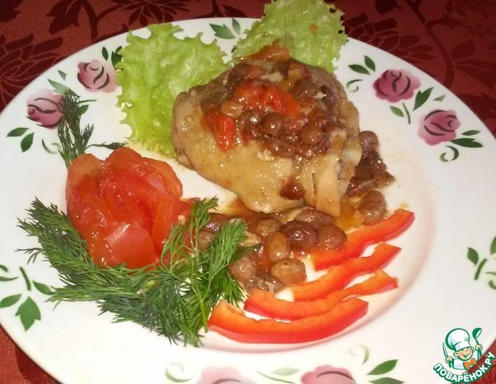 Рецепт: Куриные бедрышки в пряном соусе