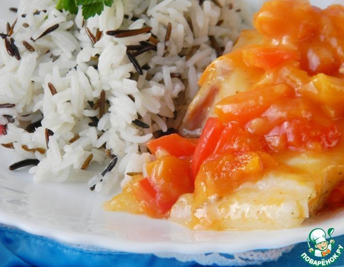 Рецепт: Рис, рыба и соус