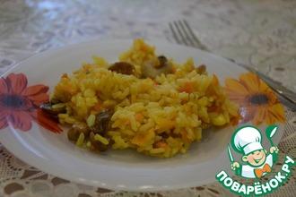 Рецепт: Грибной рис в мультиварке