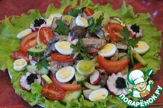 Рецепт: Валлийский салат с грибами