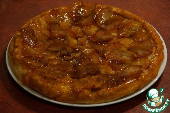 Пирог Тарт Татен с яблоками