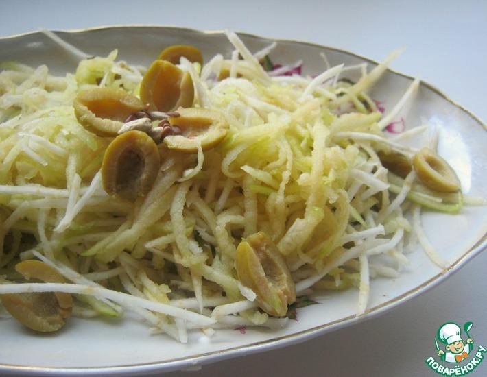 Рецепт: Салат Светло-зелёный