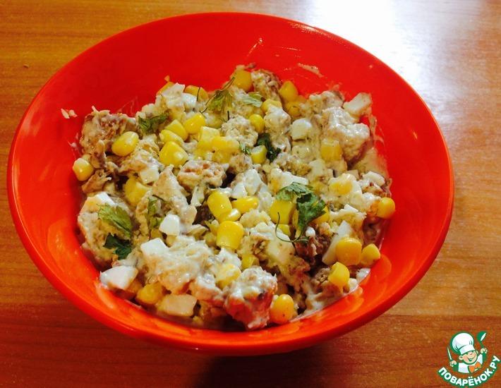 Рецепт: Салат со шпротами Простенький