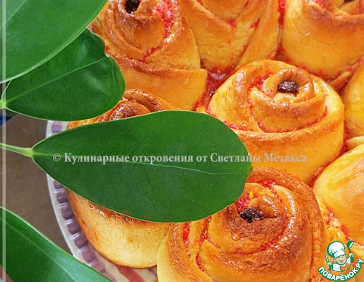 Рецепт: Пирог Розовый букет
