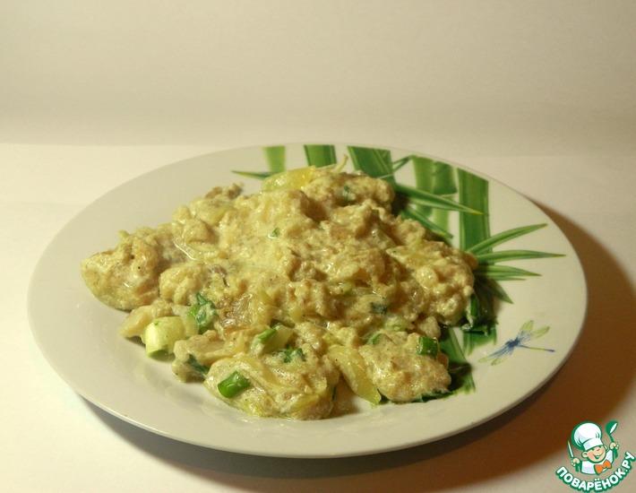 Рецепт: Пангасиус в сметанно-соевом соусе