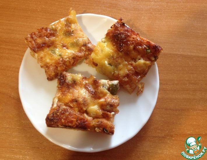 Рецепт: Пицца с жидким дрожжевым тестом