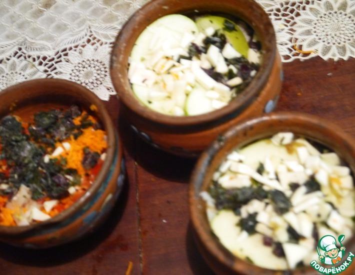 Рецепт: Филе рыбы с овощами в горшочках