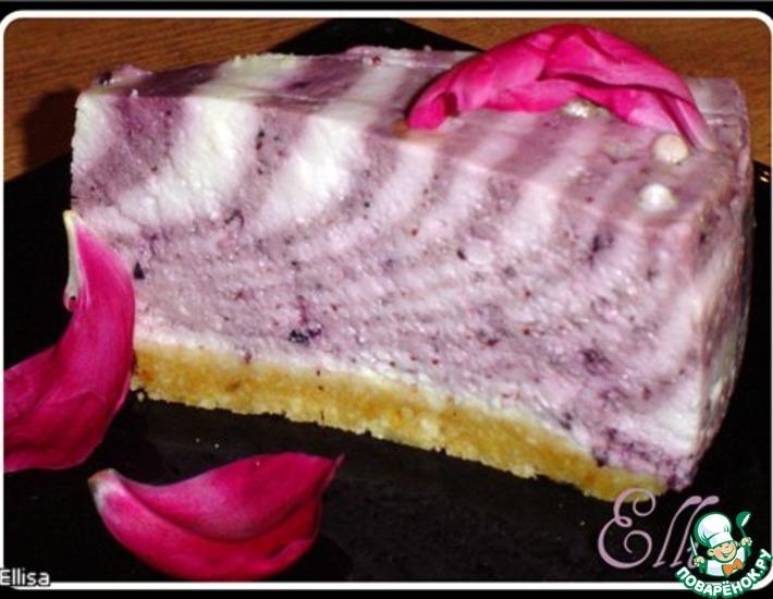 """Творожный торт """"Черничное наслаждение"""" – кулинарный рецепт"""