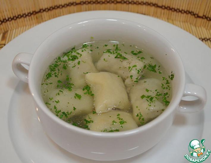 Рецепт: Суп с ленивыми пельменями