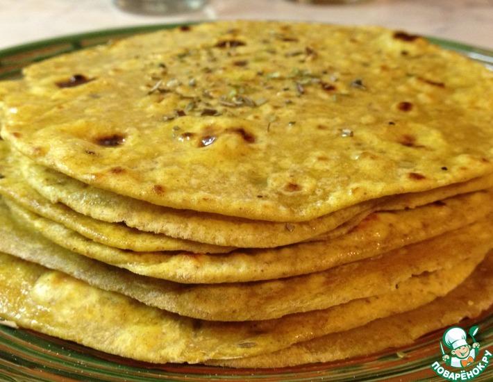 Рецепт: Лепешки Роти со специями