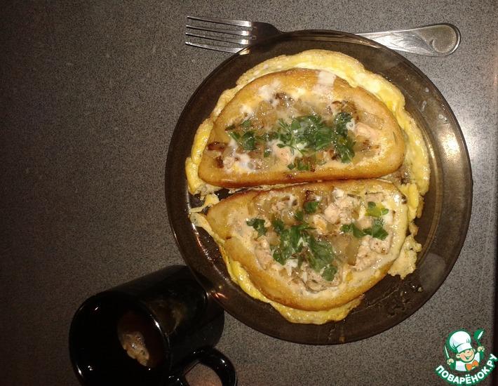 Рецепт: Горячие бутерброды Вкусняшка
