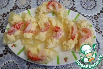 Рецепт: Сырная закуска с ананасами