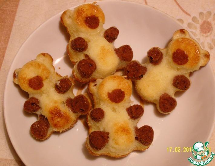 печенье шоколадное медвежонок барни простой рецепт