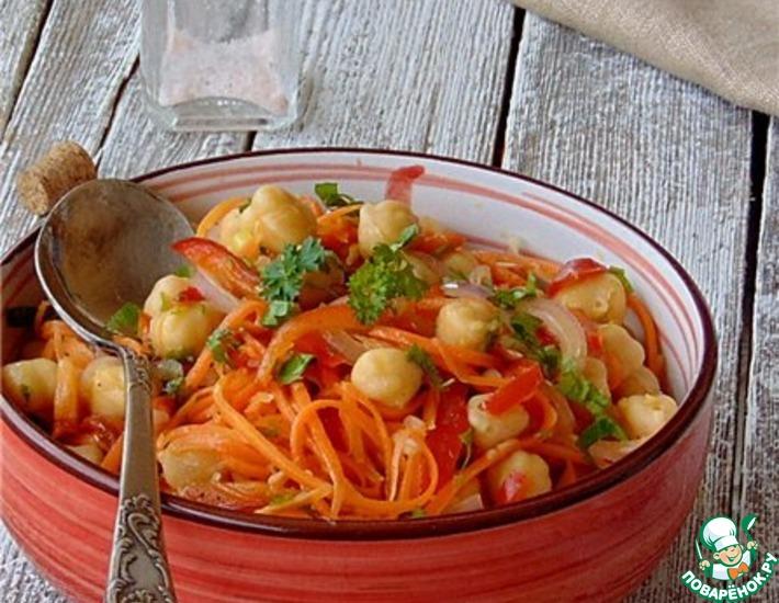 Рецепт: Салат с нутом