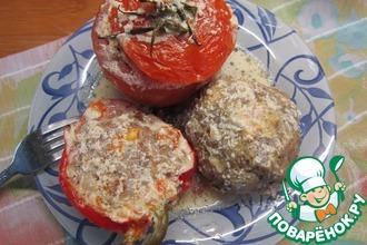 Рецепт: Тефтели и фаршированные овощи