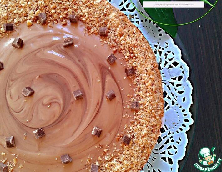 Рецепт: Арахисовый торт Коровка