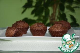 Рецепт: Шоколадные маффины на минералке