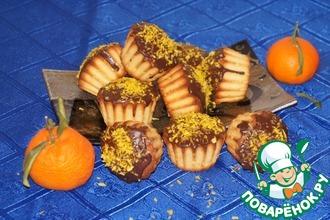 Рецепт: Кокосовые кексы с мандаринами