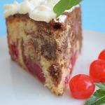 Вишнёво-шоколадный пирог