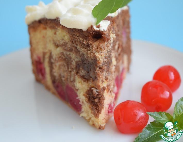 Рецепт: Вишнёво-шоколадный пирог