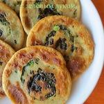 Лепешки с зеленым луком
