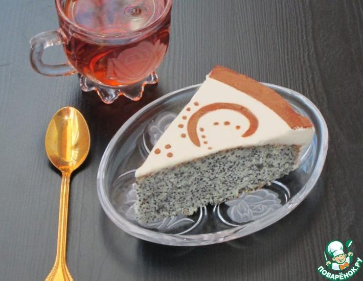 Рецепт: Маковый пирог со сметанной заливкой