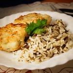 Котлеты из трески со сливочным рисом