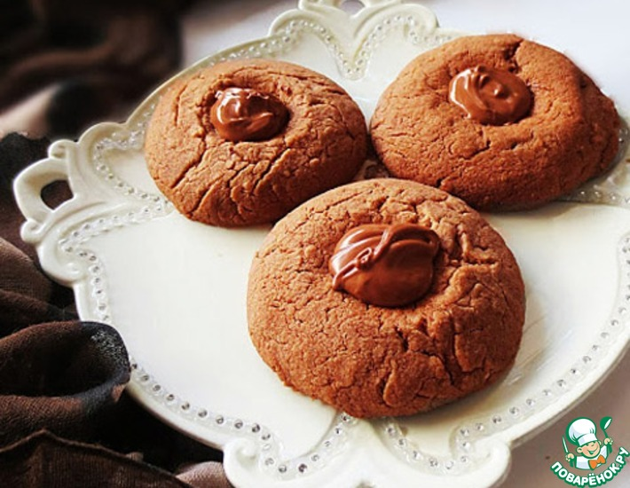 Рецепт: Песочное печенье Кнопки