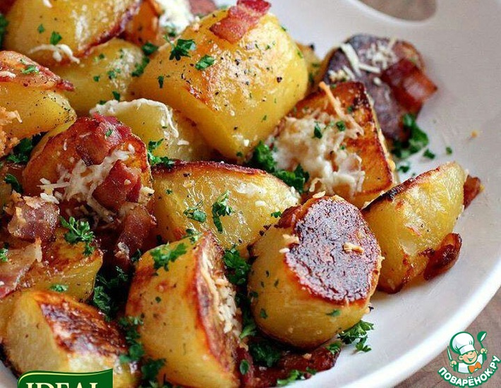 Рецепт: Картофель + Мед