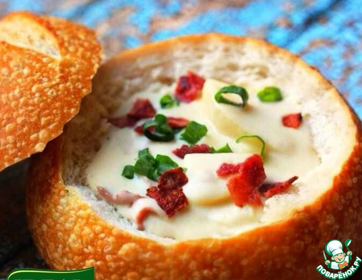 Рецепт: Суп + Хлебная тарелка