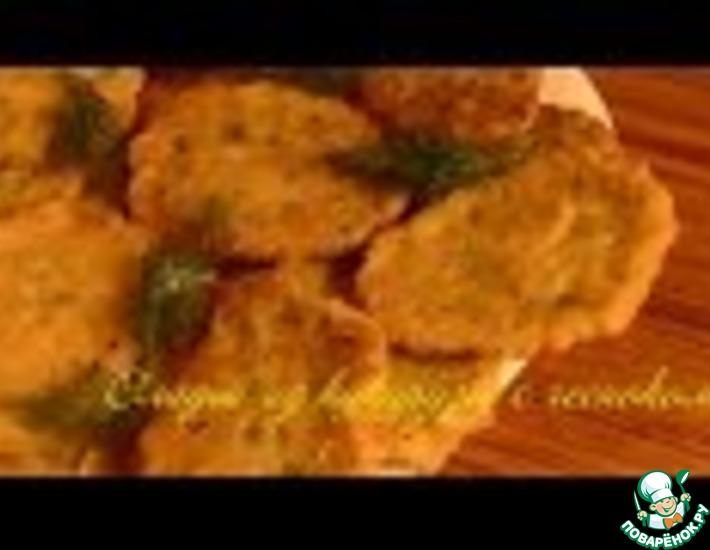 Рецепт: Оладьи из кукурузы с чесноком