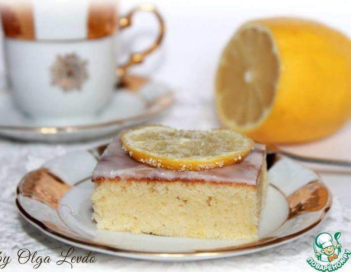 Рецепт: Брауни с лимоном и белым шоколадом