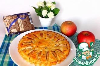 Рецепт: Запеканка из творога и риса с яблоками