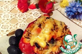 Рецепт: Перец фаршированный а-ля турецкий
