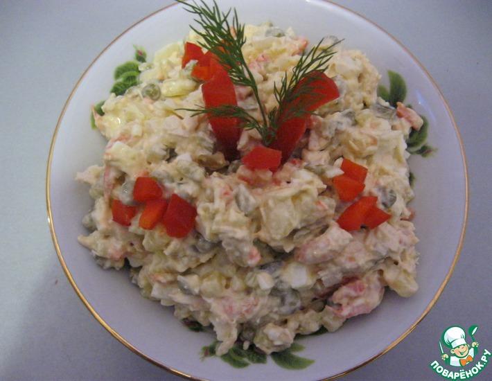 Рецепт: Салат Настоящее французкое оливье