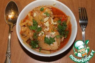 Рецепт: Солянка капустная с курицей