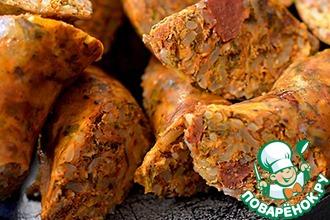 Рецепт: Колбаски ливийские Осбан с рисом