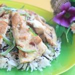 Японский омлет с рисом и курицей Оякодон
