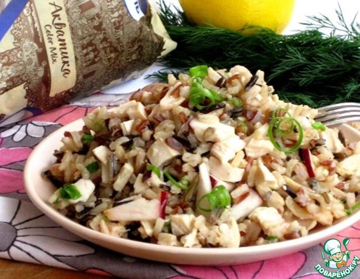 Рецепт: Салат с рисом и яблоком
