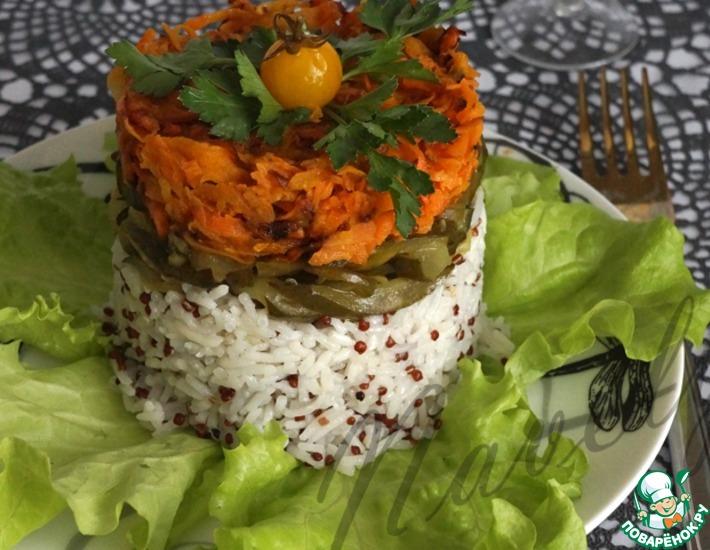Рецепт: Закусочный салат с рисом и киноа
