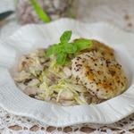 Лепешки из риса с пекинской капустой