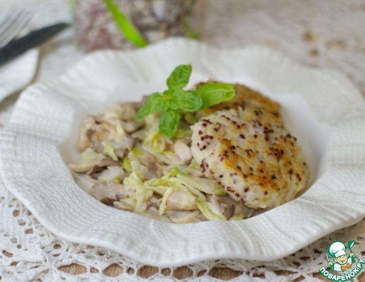 Рецепт: Лепешки из риса с пекинской капустой