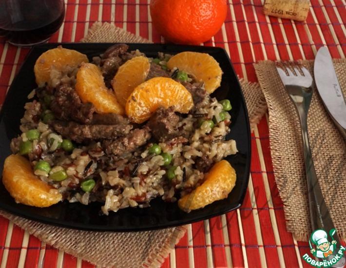 Рецепт: Рис с печенью и мандаринами