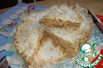Рецепт: Нежный овсяный яблочно-грушевый пирог Диетический
