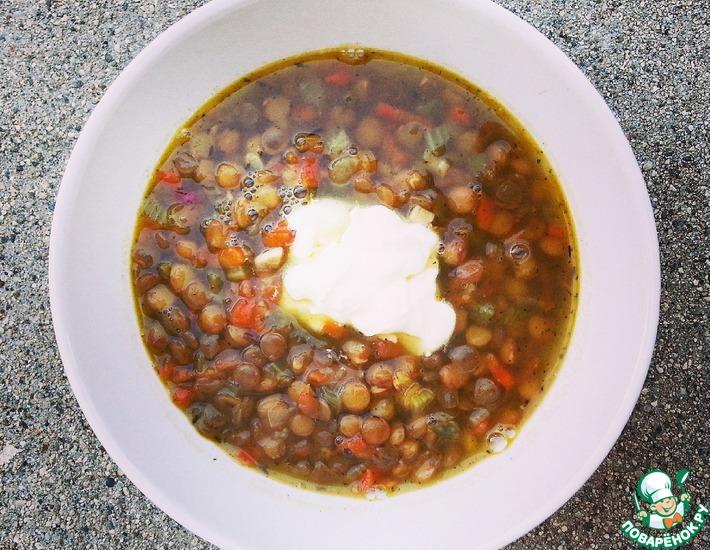Рецепт: Марокканский суп с чечевицей