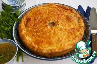 Рецепт: Татарский мясной пирог