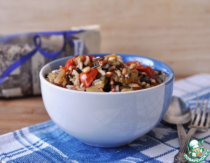 Рецепт: Средиземноморское овощное рагу с рисом