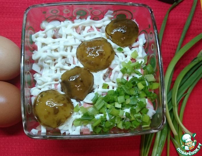 Рецепт: Салат Грибы в засаде