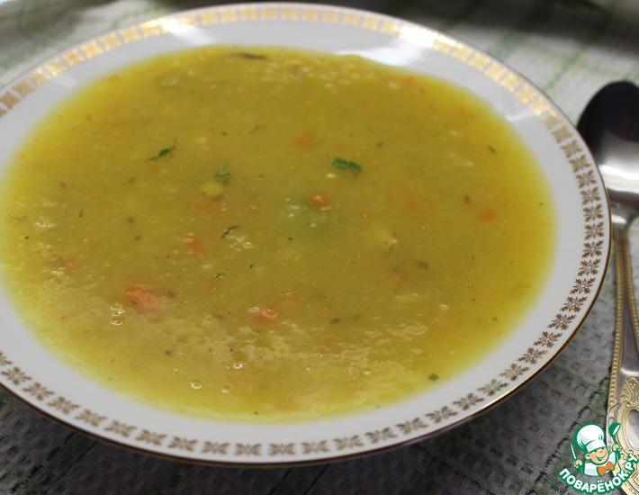 Рецепт: Тыквенный суп-пюре с горохом