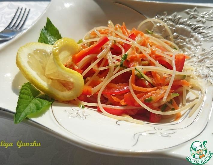Рецепт: Салат с фунчозой
